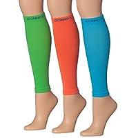 小腿压缩袖 3 对(12-14 mmHg)是适合男士和女士、旅行、跑步、*、飞行、Edema 的*佳运动和*