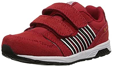 k-SWISS SI-18 Trainer 2 Dester Sneaker (Infant/Toddler), Red/Black/Cyber Yellow, 7.5 M US Toddler