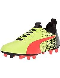 PUMA Evoknit FTB FG 儿童足球鞋 黄色(Fizzy)-红色(Blast)-黑色(Puma) 4.5 M US 儿童