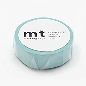 "MT Solids Washi Paper Masking Tape, 3/5"" x 11 yd, Baby Blue, (MT01P191)"