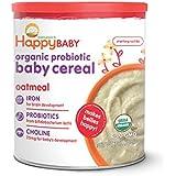 Happy Baby probiotics婴儿燕麦 含DHA & 胆碱 Oatmeal  7 盎司罐(198.4克) (6 包)