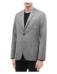 Calvin Klein 男式轻质修身双扣西装