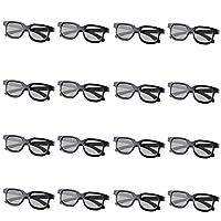 GELETE 3D 眼鏡 適用于電影 被動式 中性款 被動式 3D 眼鏡 適用于 LG 松下 Vizio 和所有被動式 3D 電視 & RealD 3D 影院眼鏡(12 只裝贈 4 只裝)