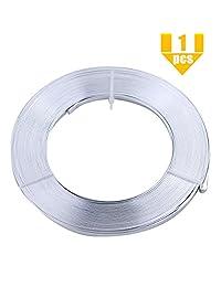 YG_Oline 32.8 英尺 5mm 铝合金扁平线,宽扁饰品工艺丝,用于珠宝制作、DIY 工艺项目、植物模型或包装