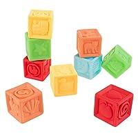 嗨! Play! 123 软橡胶积木 - 不含 BPA,彩色,可挤压数字积木套装 - 适合婴幼儿的经典教育学习玩具