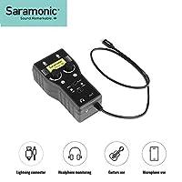 Saramonic 2-Channel XLR & 6.35mm 吉他音频接口 SmartRig+ Di Lightning 接口 兼容 iPhone 7 8 X iPad、iPod、iOS 智能手机平板电脑