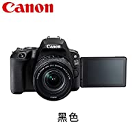 Canon佳能 EOS 200D入门单反相机 女生时尚自拍相机 2017年新款 (【套餐版 含配件】黑色搭配18-55mm)