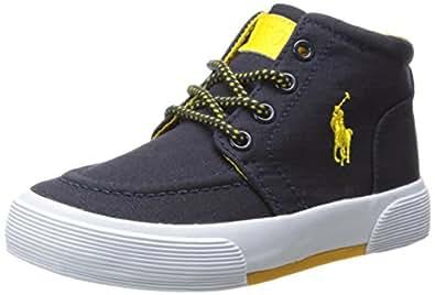 Polo Ralph Lauren 中性-儿童 FAXON II MID - K 深蓝色/黄色 12 M US 儿童