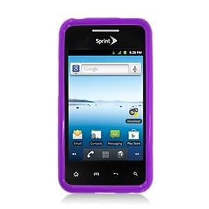 Aimo Wireless LGLS696PCTPU014 Hybrid Sensual Gummy PC/TPU Slim Protective Case for LG Optimus Elite/Optimus M+/Optimus Plus/Optimus Quest /LS696 - Retail Packaging - Purple