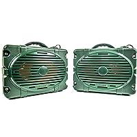 Turtlebox:防水蓝牙扬声器 ~ 一对用于真正的 L-R 立体声 | 扬声器! Audio up up 120db. (Rugged Outdoors IP67 – 海滩,运动,露营,划船,ATV),50+ 小时电池 Pair of Speakers