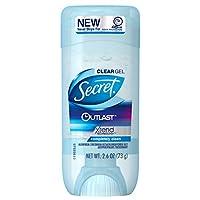 Secret Outlast Antiperspirant and Deodorant Clear Gel, Completely Clean - 2.6 Oz Each, Pack of 2