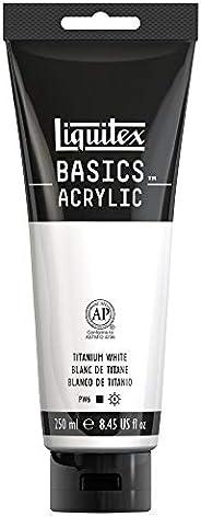 Liquitex BASICS Acrylic Paint, 8.5-Ounce Tube 白色