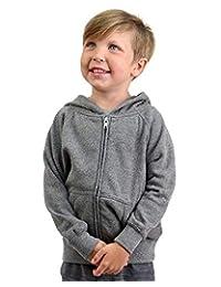 Global Blank 青年轻质拉链羊毛连帽衫 适合男孩女孩和学步儿童