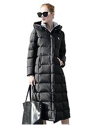 美国UAISI90% 白鹅绒新款女装长款羽绒服女加厚过膝大码宽松羽绒大衣