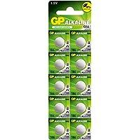 GP超霸 1.5V纽扣碱性电池GP186-LY锂电池 10粒卡装(特卖)