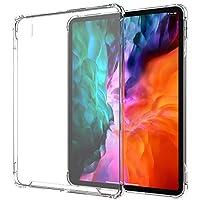 LUVVITT iPad Pro 12.9 保护壳 2020 清晰视野防震防摔超薄混合 TPU 凝胶缓冲器和硬质 PC 防刮后盖 适用于 Apple