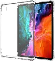 LUVVITT iPad Pro 12.9 保護殼 2020 清晰視野防震防摔超薄混合 TPU 凝膠緩沖器和硬質 PC 防刮后蓋 適用于 Apple