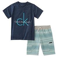 Calvin Klein 婴儿男孩2件短裤套装