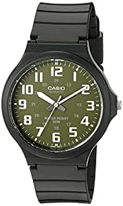 """Casio 卡西欧 男式"""" 易读"""" 石英黑色休闲手表 (型号:MW240-3BV)"""
