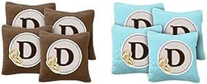 AJJ 沙包 108-245 定制徽章婚礼交织字母沙包,一套 8 个