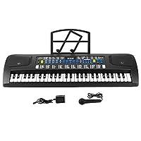 miles 美乐斯 智能54键教学电子琴成人儿童初学入门仿真钢琴键电子琴 (54键多功能电子琴 黑色款,LED数码显示)