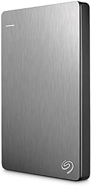 Seagate 希捷 Backup Plus Slim 2TB 便携外置硬盘 – 银色 适用于PC笔记本电脑和Mac的USB 3.0,2个月Adobe CC摄影(STDR2000101)