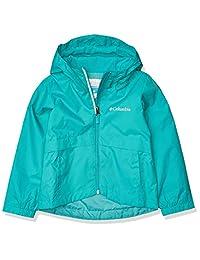 Columbia 女童 Rain-Zilla 夹克,防水,反光 亮水* X-Large