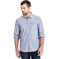 True Religion 男式长袖多用途条纹衬衫