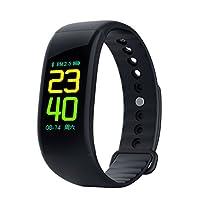 StaSmart Color Screen Fitness Tracker 带心率监测仪,健身活动跟踪手表带*监测,步卡路里计数器,智能手环计IP67 防水腕带