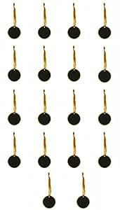 18 个迷你 2.5 英寸圆形黑板标志悬挂黑色棋盘婚礼、儿童手工艺品 金色