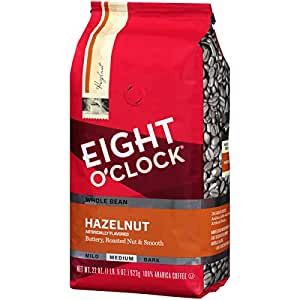 Eight O'Clock 全豆咖啡,榛子,22盎司(623g)