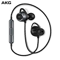 AKG N200 WIRELESS入耳式无线蓝牙耳机挂脖运动跑步重低音 黑色