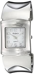 MZ Berger 女式石英金属和合金休闲手表,颜色:银色(型号:STD906T)