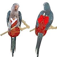Kama Bird 尿布 鹦鹉 纸尿裤 中国传统服装 Hanfu 风格 鹦鹉 迷你金刚鹦鹉 虎尾鹦鹉 爱鸟 飞行套装 Hanfu style-Red M: 6.7 X 2.8