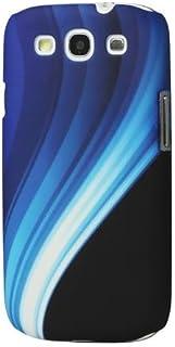 So'axess BCASGI9300-36 手机壳适用于三星 I9300 Galaxy S III 黑色带蓝色彩虹背景