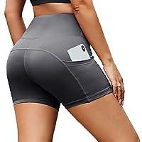 HIGHDAYS 女士打底裤 - 高腰收腹健身打底裤 不透明修身软裤适用于骑行、瑜伽、跑步和跑步。