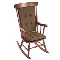 """Embrace""纯色纹理摇椅坐垫 巧克力色 Seat: 16L x 17.5W x 2H inches,Back: 25 x 20 inches 348243-15"