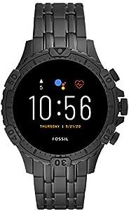 Fossil * 5 代 Garrett 不锈钢触摸屏智能手表带扬声器、心率、GPS、NFC 和智能手机通知
