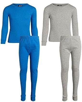 Arctic Hero Boys 保暖内衣上衣和裤子 2 件套 Grey/royal 2T