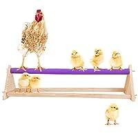 MEWTOGO 木制鸡栖木手工鸡木架秋千栖木玩具适用于鸡大鸟训练和玩耍