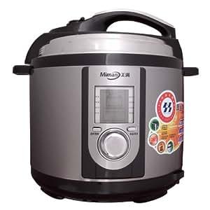 Miman美满电压力锅 M-40B6G 4L 超大液晶显示 多重限压保护 智能烹饪 预约定时 停电记忆