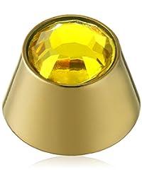 纯灰色中性香蕉贝壳锥形长筒袜由钛氧化锆黄色明亮切割 - XKESTJ-01.2-05-03-ZRN-CI