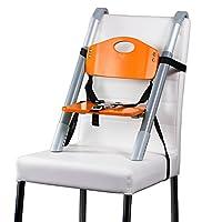 增高座椅 - Svan Lyft 高脚椅 - 可轻松调节至大多数椅子 - (18 个月至 5 年) 橙色