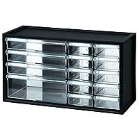 livinbox 桌面文具硬件收纳架多功能储物盒,办公配件,带多抽屉 14 Assorted Compartments 黑色 USIOSAmz20181108TgQexq