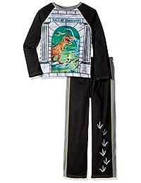 komar 儿童大男孩恐龙4d 2件套针织睡衣套装