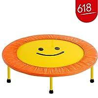 闪电客儿童蹦蹦床室内平衡锻炼家用跳跳床感统训练弹簧跳床玩具抖音红色-102厘米直径-不可折叠