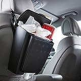 Rubbermaid 汽车悬挂垃圾桶带翻转顶盖:防漏汽车垃圾桶/垃圾篮收纳盒