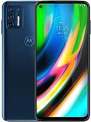 Motorola 摩托罗拉 Moto G9 Plus 128GB,4GB RAM,XT2087-1,64MP 相机系统,6.8 英寸,LTE 工厂解锁智能手机 - 国际版(蓝靛蓝)