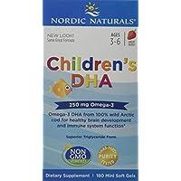 (跨境自营)(包税) Nordic Naturals 挪帝克 儿童DHA软胶囊180粒草莓味