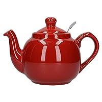 Dexam London Pottery 2 杯过滤器茶壶红色